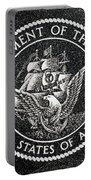 Department Of The Navy Emblem Polished Granite Portable Battery Charger