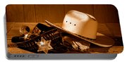 Deputy Sheriff Gear - Sepia Portable Battery Charger