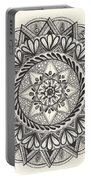 Des Tapestry Medallion Portable Battery Charger