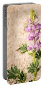 Desert Lupine Portable Battery Charger