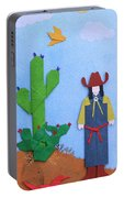 Desert Roadrunner By Mary Ellen Palmeri Portable Battery Charger