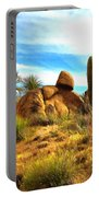 Desert Scene Near Sedona Arizona Painting Portable Battery Charger