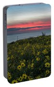 Desert Sunflowers Coastal Sunset Portable Battery Charger