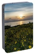 Desert Sunflowers Coastal Sunset 2 Portable Battery Charger