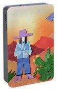Desert Sunrise By Mary Ellen Palmeri Portable Battery Charger