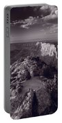 Desert View At Grand Canyon Arizona Bw Portable Battery Charger