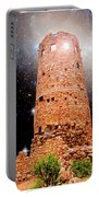 Desert View Tower, Starry Night, Grand Canyon Portable Battery Charger