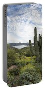 Desert Wildflower View Portable Battery Charger