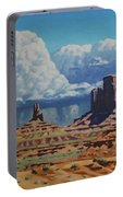 Rainstorm Over Monument Valley Portable Battery Charger