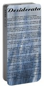 Desiderata - Blue Portable Battery Charger