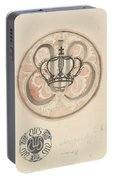Design For A Plate With Crown And Monogram, Carel Adolph Lion Cachet, 1874 - 1945 Portable Battery Charger
