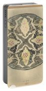 Design For A Plate With Floral Decoration, Carel Adolph Lion Cachet, 1874 - 1945 Portable Battery Charger