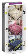 Designer Bed Sheet To Decor Home Portable Battery Charger