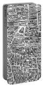 Detail From A Map Of Paris In The Reign Of Henri II Showing The Quartier Des Ecoles Portable Battery Charger