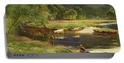 Detail Of A Highland Loch Scene Portable Battery Charger