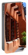 Detail Of A Pueblo Style Architecture In Santa Fe Portable Battery Charger