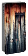 Detail Of An Old Wooden Door Portable Battery Charger