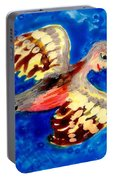 Detail Of Bird People Flying Chaffinch  Portable Battery Charger
