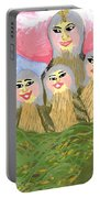 Detail Of Bird People The Chaffinch Family Nest Portable Battery Charger