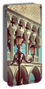Detail Of Lamp And Columns In Venice. Vertically.  Portable Battery Charger