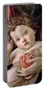 Detail Of The Christ Child From The Madonna Of The Pomegranate  Portable Battery Charger