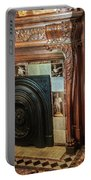 Detail Of Wood Carving And Tiles - Historic Fireplace Portable Battery Charger