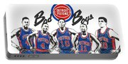 Detroit Bad Boys Pistons Portable Battery Charger