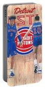 Detroit Hustle - Ben Wallace And Dennis Rodman Portable Battery Charger