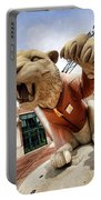 Detroit Tigers Tiger Statue Outside Of Comerica Park Detroit Michigan Portable Battery Charger by Gordon Dean II