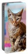 Devon Rex Purebred Domestic Cat Portable Battery Charger