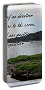 Devotion By Poet Robert Frost Portable Battery Charger