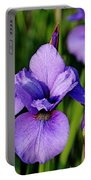 Dew Kissed Iris Portable Battery Charger