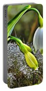 Dew On Lilly Of The Valley Portable Battery Charger