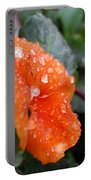Dewy Pansy 2 - Side View Portable Battery Charger