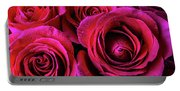 Dewy Rose Bouquet Portable Battery Charger