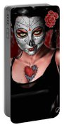 Dia De Los Muertos The Vapors Portable Battery Charger by Pete Tapang