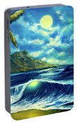 Diamond Head Moon Waikiki Beach #407 Portable Battery Charger