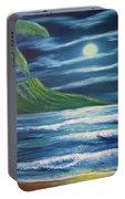 Diamond Head Moon Waikiki Beach  #409 Portable Battery Charger