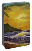 Diamond Head Sunrise Oahu #414 Portable Battery Charger