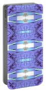 Diamonds Lilac Portable Battery Charger