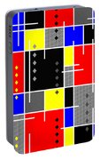 Diamonds And De Stijl Portable Battery Charger by Tara Hutton