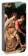 Diana And Her Companions Portable Battery Charger by Jan Vermeer