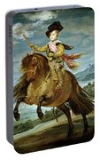 Diego Velazquez 1599-1660 Prince Baltasar Carlos On Horseback Portable Battery Charger