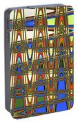 Digital Broad Paint Abstract Portable Battery Charger