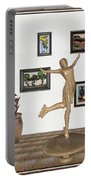 digital exhibition _ A sculpture of a dancing girl 11 Portable Battery Charger