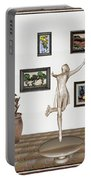 digital exhibition _ A sculpture of a dancing girl 12 Portable Battery Charger