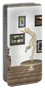 digital exhibition _ A sculpture of a dancing girl 8 Portable Battery Charger