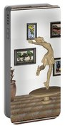 digital exhibition _ A sculpture of a dancing girl 9 Portable Battery Charger