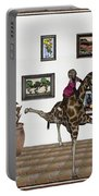 digital exhibition _ It climbed up giraffe Portable Battery Charger