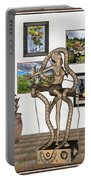 Digital Exhibition _ Modern  Statue   Of Dancing Girl Portable Battery Charger
